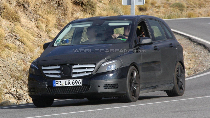 2013 Mercedes-Benz B-Class AMG first spy photos