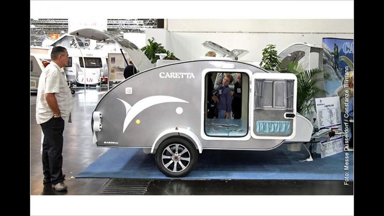2010: Caretta –  Mini-Wohnwagen im Delphin-Design