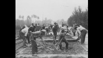 Foto storica, Cantonieri al lavoro 1935
