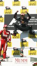 Mark Webber (AUS), Red Bull Racing, Hungarian Grand Prix, Sunday Podium, 01.08.2010 Budapest, Hungary