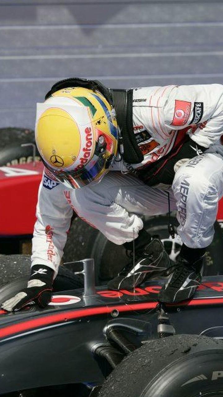 Lewis Hamilton, winner, 2009 Hungarian GP