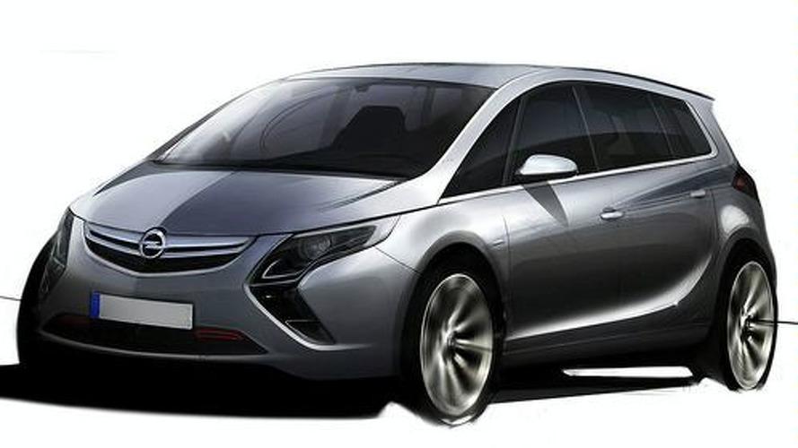 2012 Opel Zafira Sketch Surfaces