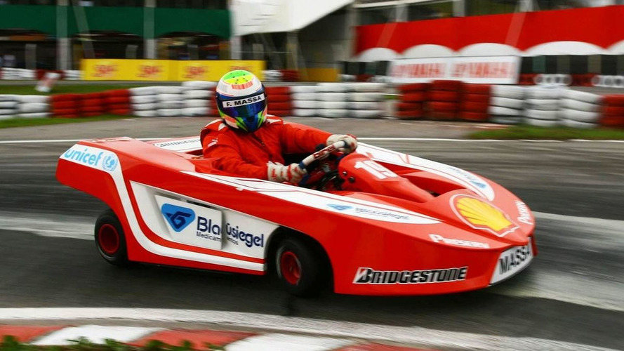 Massa tests kart in Brazil