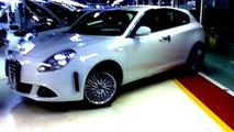 Alfa Romeo Milano spy photos in factory