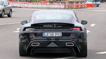 Porsche Mission E, le prime foto spia