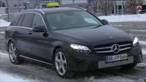 2018 Mercedes-Benz C-Class Headlight Spy Shots