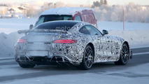 Mercedes-AMG GT R spied in the snow with central exhaust tip