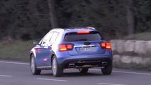 Mercedes-Benz GLA facelift screenshot from spy video