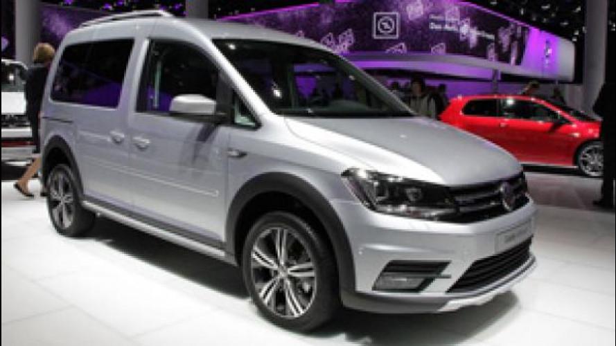 Salone di Francoforte, Volkswagen porta anche il nuovo Caddy Alltrack