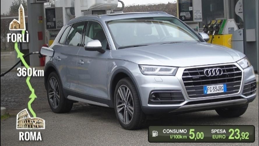 Audi Q5 TDI, la prova dei consumi reali