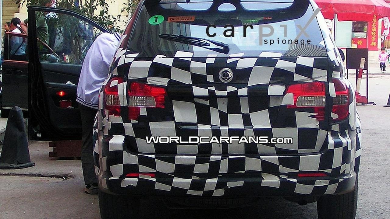 Roewe Ssangyong MG SUV spy photos