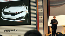 Kia K9 luxury sedan teaser sketch presented at Songdo design conference - 500