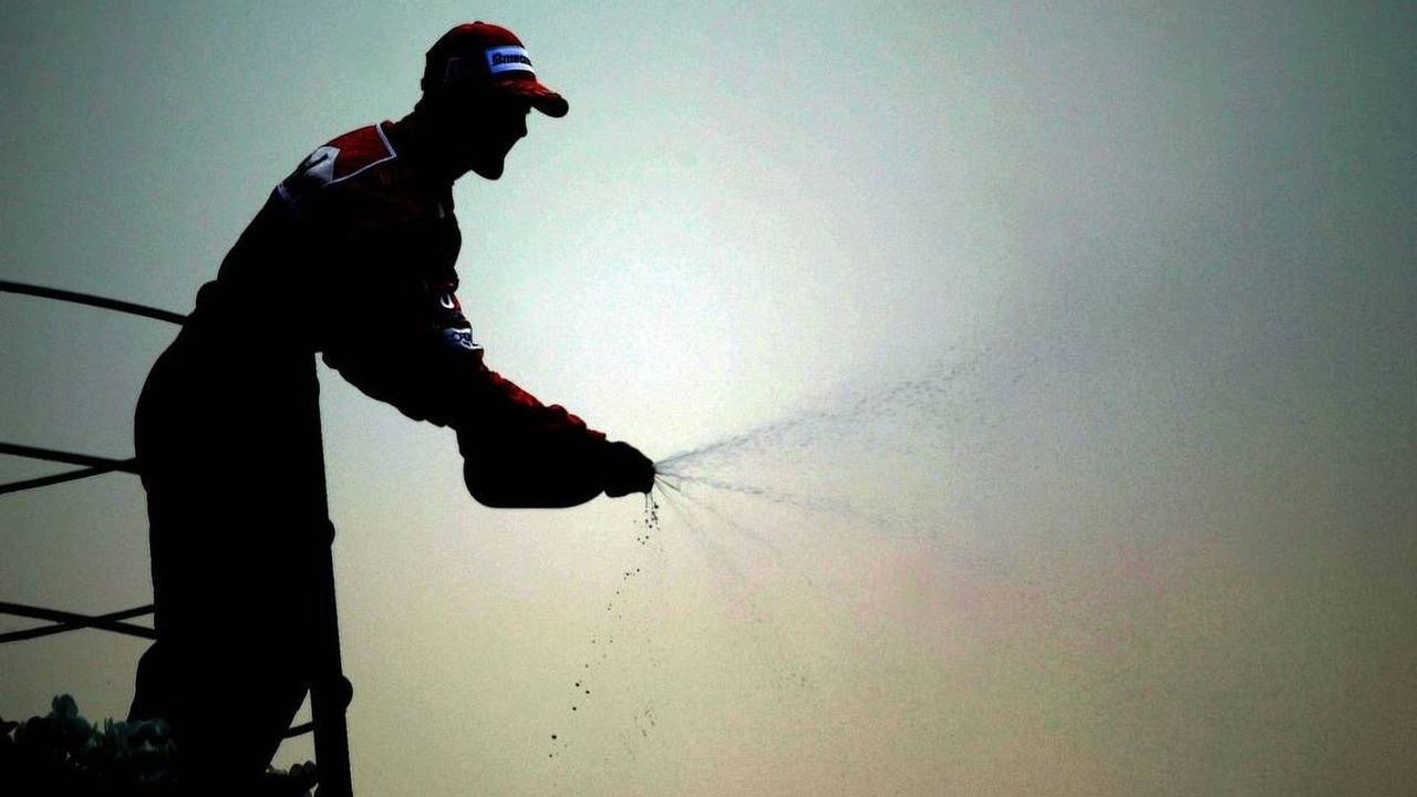 Michael Schumacher, GER, Ferrari, Podium, Italian Grand Prix, 12.09.2004 Monza, Sunday