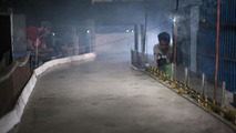 Four RC cars go tandem drifting at night on purpose-built track [video]