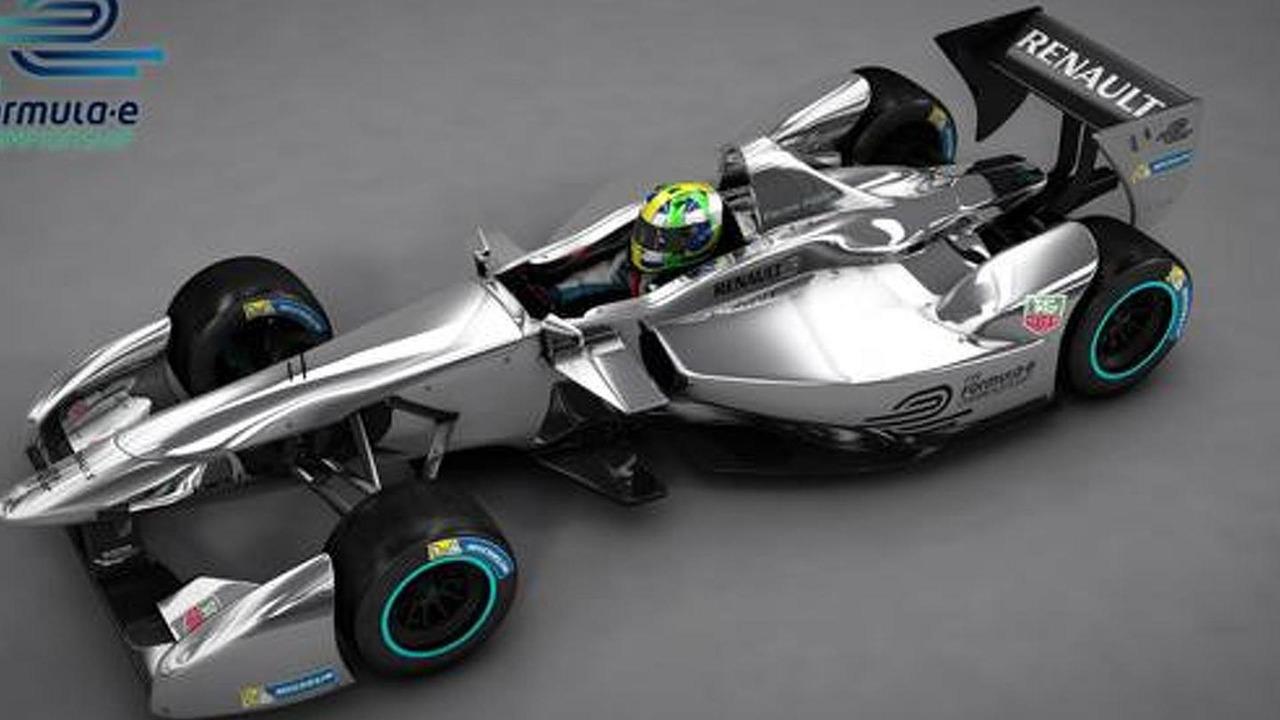 Renault Formula E race car 15.4.2013