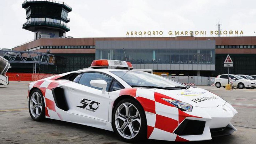 Lamborghini Aventador works as Bologna airport vehicle