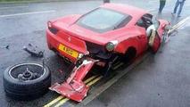 Crashed Ferrari 458 Italia 24.05.2013