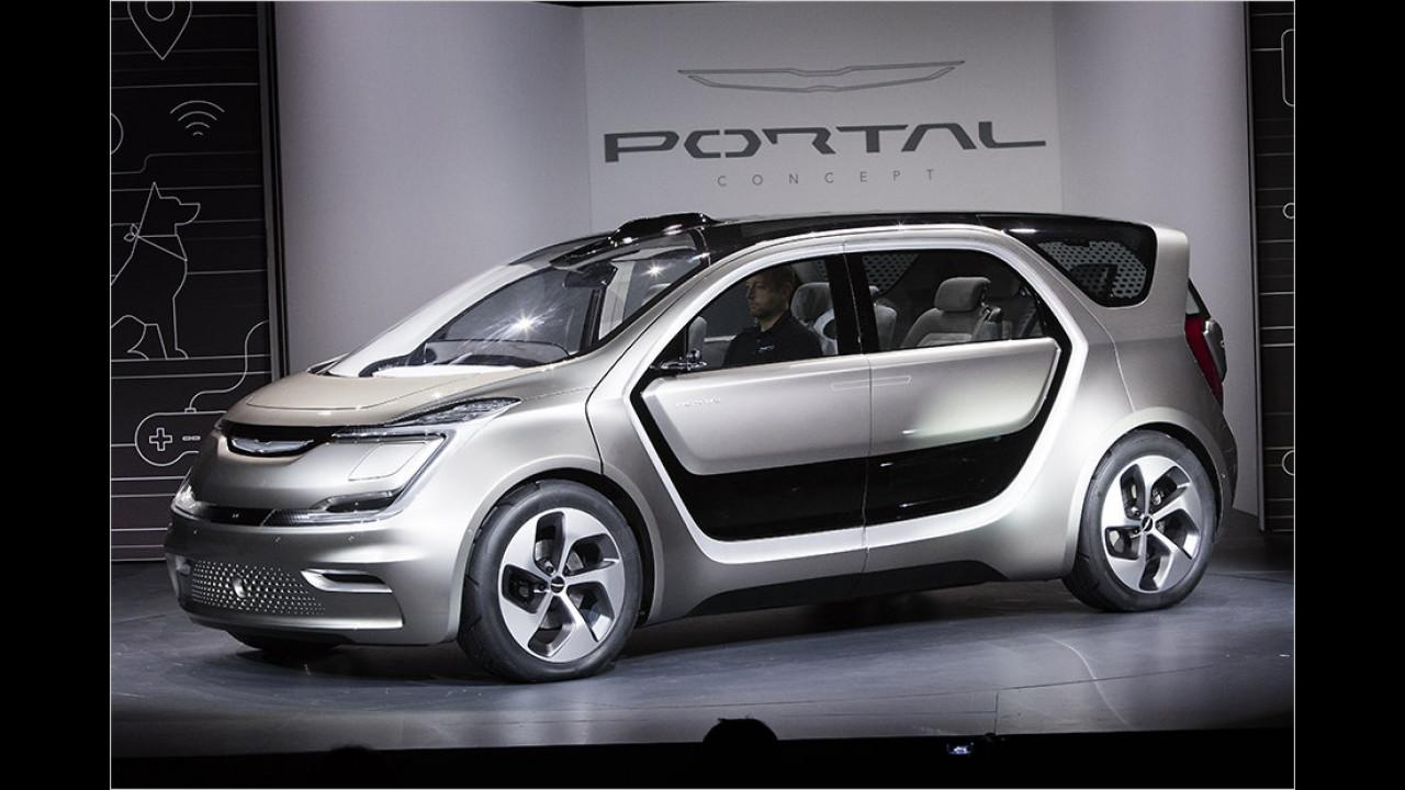 Zukunfts-Portal mit einem Haken ...