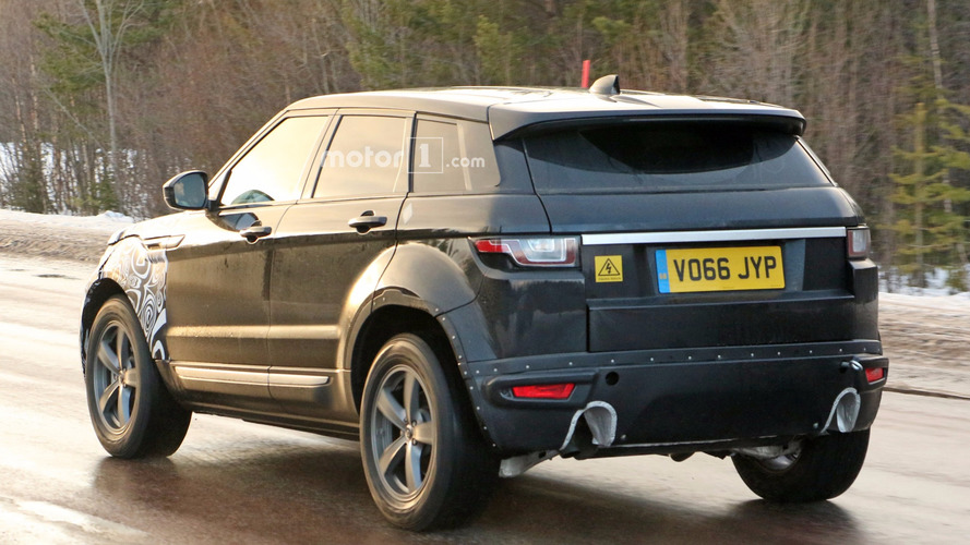 2019 range rover evoque spied for the first time. Black Bedroom Furniture Sets. Home Design Ideas