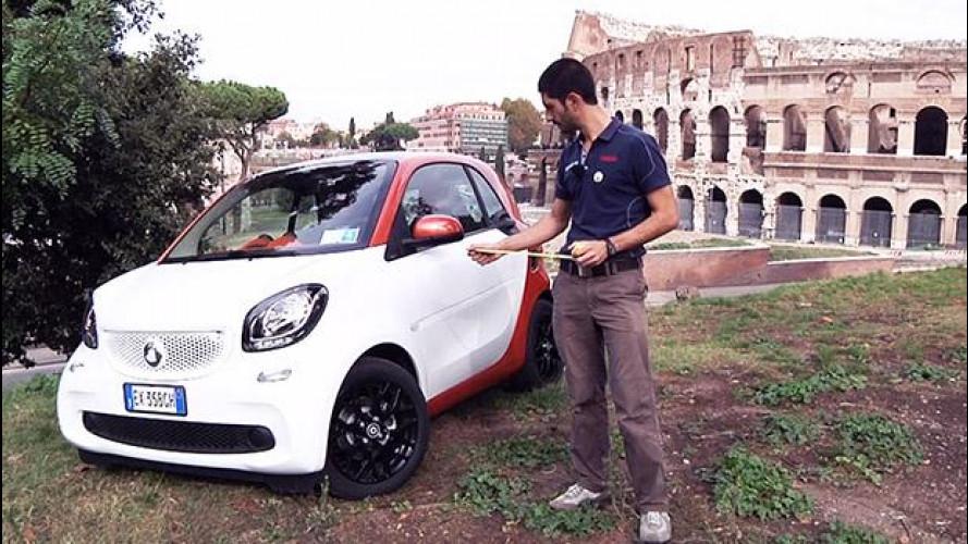 Nuova smart, la prova nella sua città: Roma