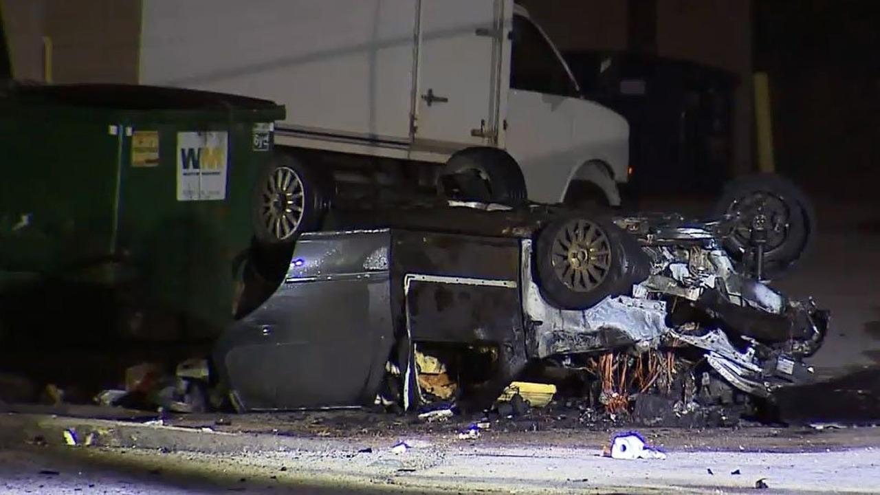 Toronto road rage biker gang results in assault, rollover crash, fire
