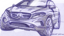 Mercedes-Benz teases 2014 GLA via design sketches