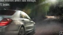 Mercedes-Benz PRE SAFE brake ad replying Jaguar