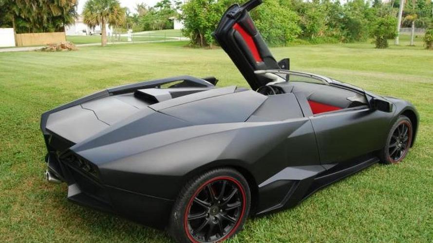This Lamborghini Reventon Roadster replica is a decent yet futile effort