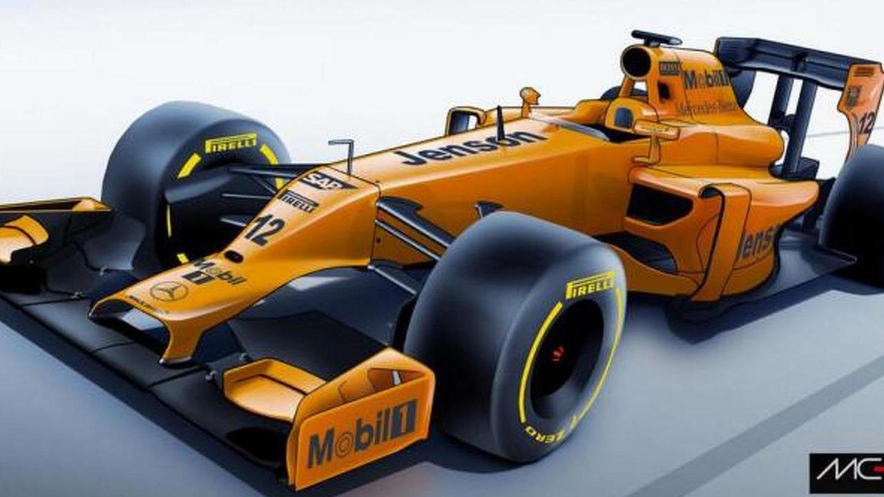 McLaren MP4-29 in 2014 orange livery speculative rendering