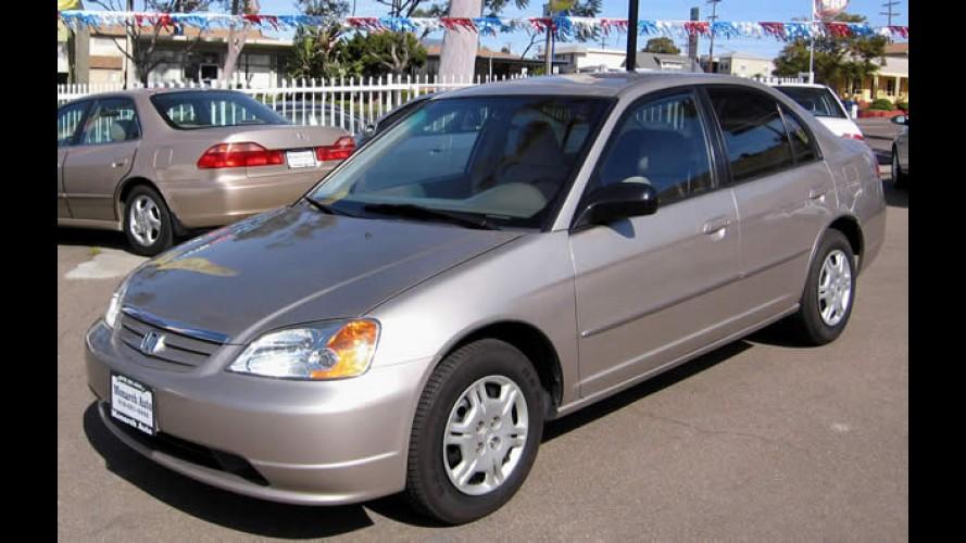 Honda anuncia Recall para Civic 2001 e 2002 devido a possível falha no airbag do passageiro