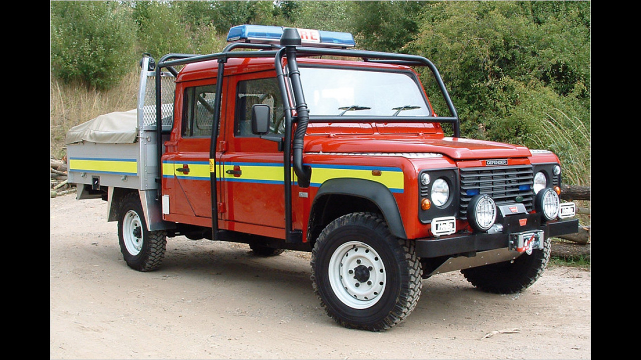 Defender 130 Crew Cab Special Vehicles Fire and Rescue Conversion