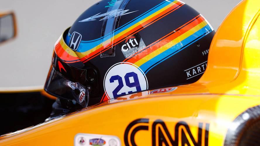 Alonso llevará en Austin el diseño de casco que utilizó en IndyCar