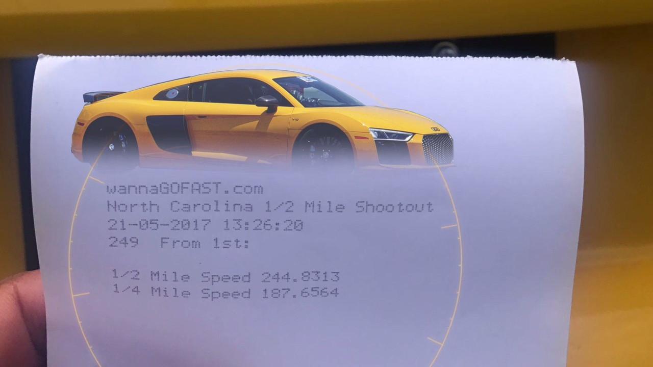 Audi R8 Half-Mile Drag Video