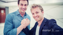 Nico Rosberg, Mercedes AMG F1 and Toto Wolff, Mercedes AMG F1 Shareholder and Executive Director