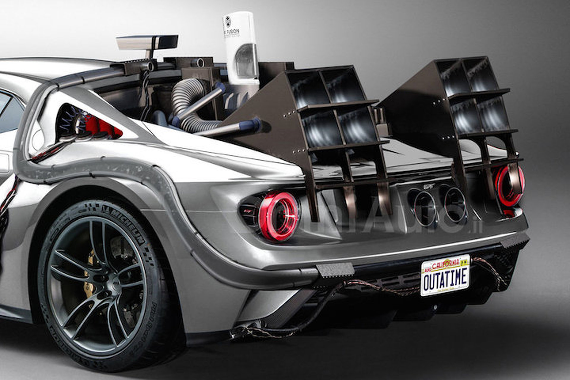 This Back To The Future Ford Gt Is Definitely Quicker Than Mph