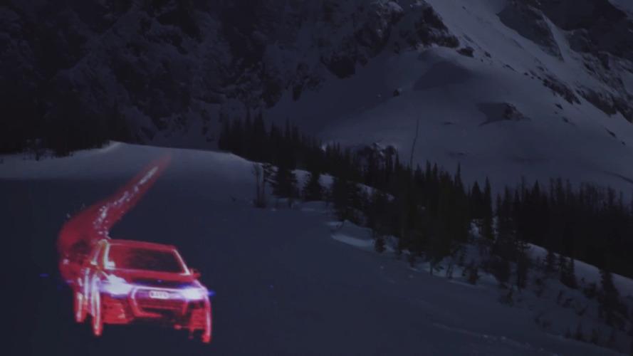 Audi Q7 projection promo