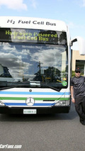 Kimi test drives zero-emission fuel cell bus
