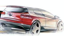 VW Golf GTI design sketch