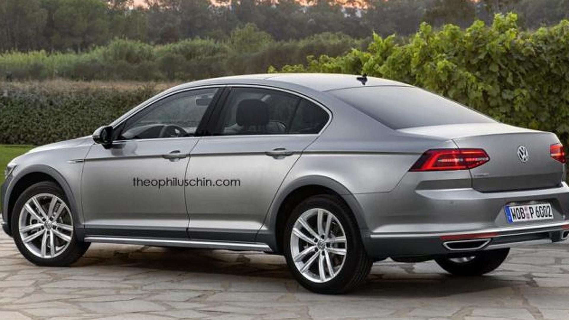 Седан для бездорожья Volkswagen Passat Alltrack, неофициально