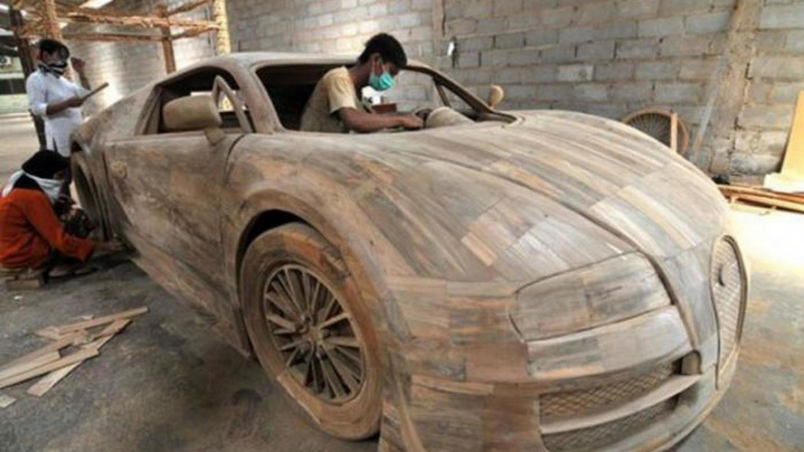 Bugatti Veyron full-size replica made from wood costs just $3,300 [video]