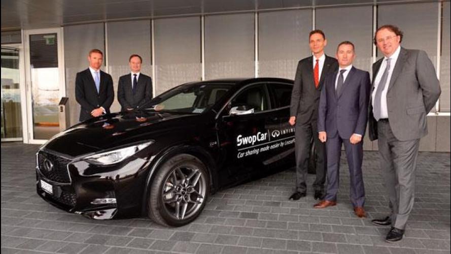 Infiniti Q30, in car sharing per le aziende
