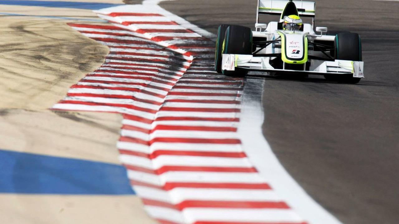 Jenson Button qualifying at Bahrain grand prix 2009