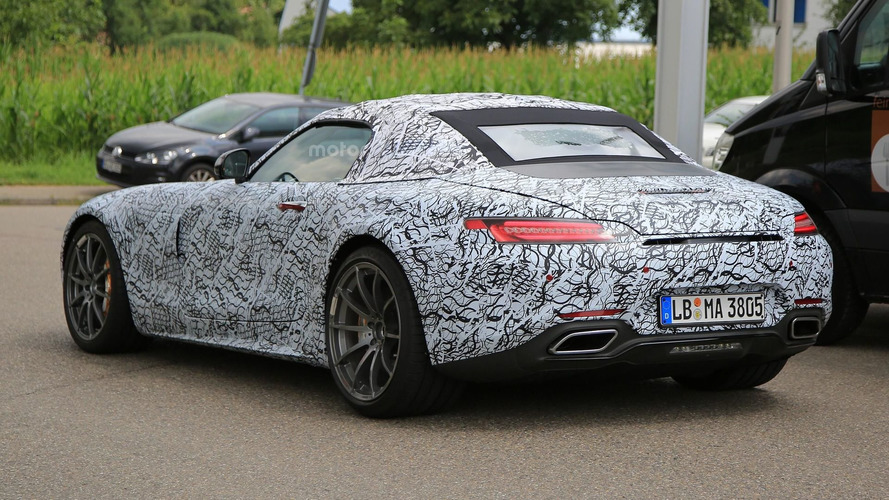 Mercedes-AMG GT C Roadster spy photos
