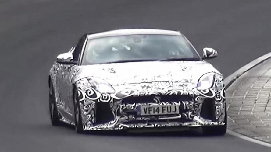 Jaguar F-Type SVR spied testing hard on the 'Ring [video]
