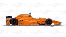 #29 - Fernando Alonso, McLaren-Honda-Andretti Autosport