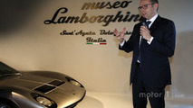 CEO Stefano Domenicali at the Lamborghini Museum unveiling in Sant'Agata Bolognese