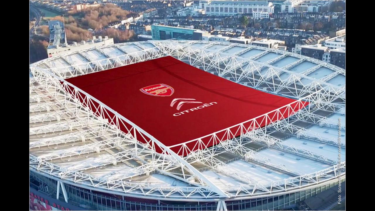 Citroën: Stadiondach aus Stoff für London