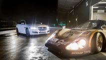 Jaguar XJR meets the XJR9-LM at Silverstone [video]