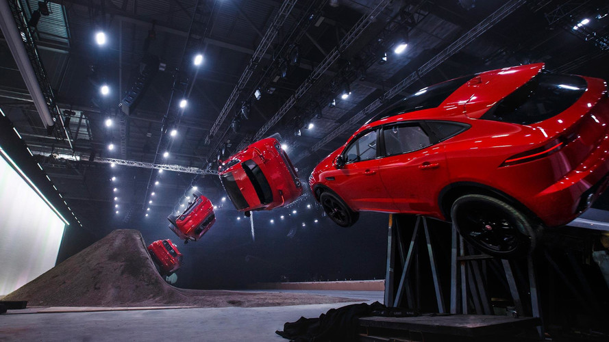 Jaguar E-Pace Performs World's Longest Barrel Roll