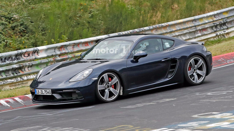 Porsche 718 Cayman GTS Spied Undisguised On The Nürburgring